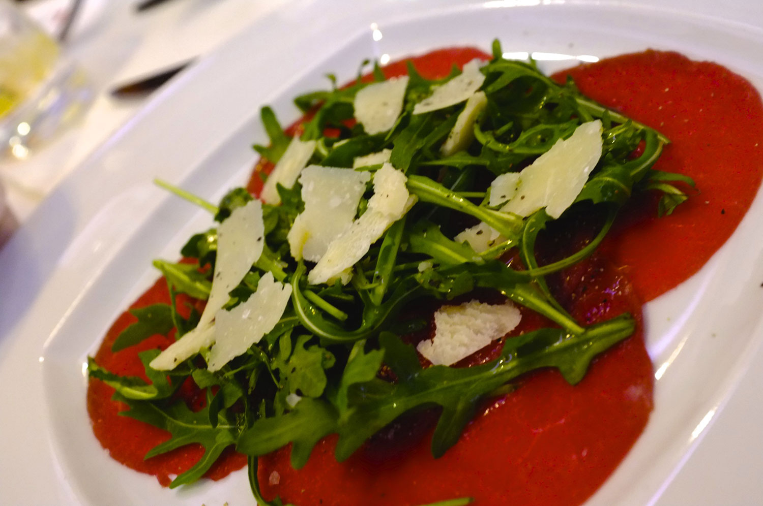 Carpaccio of Beef with Salad and Parmesan