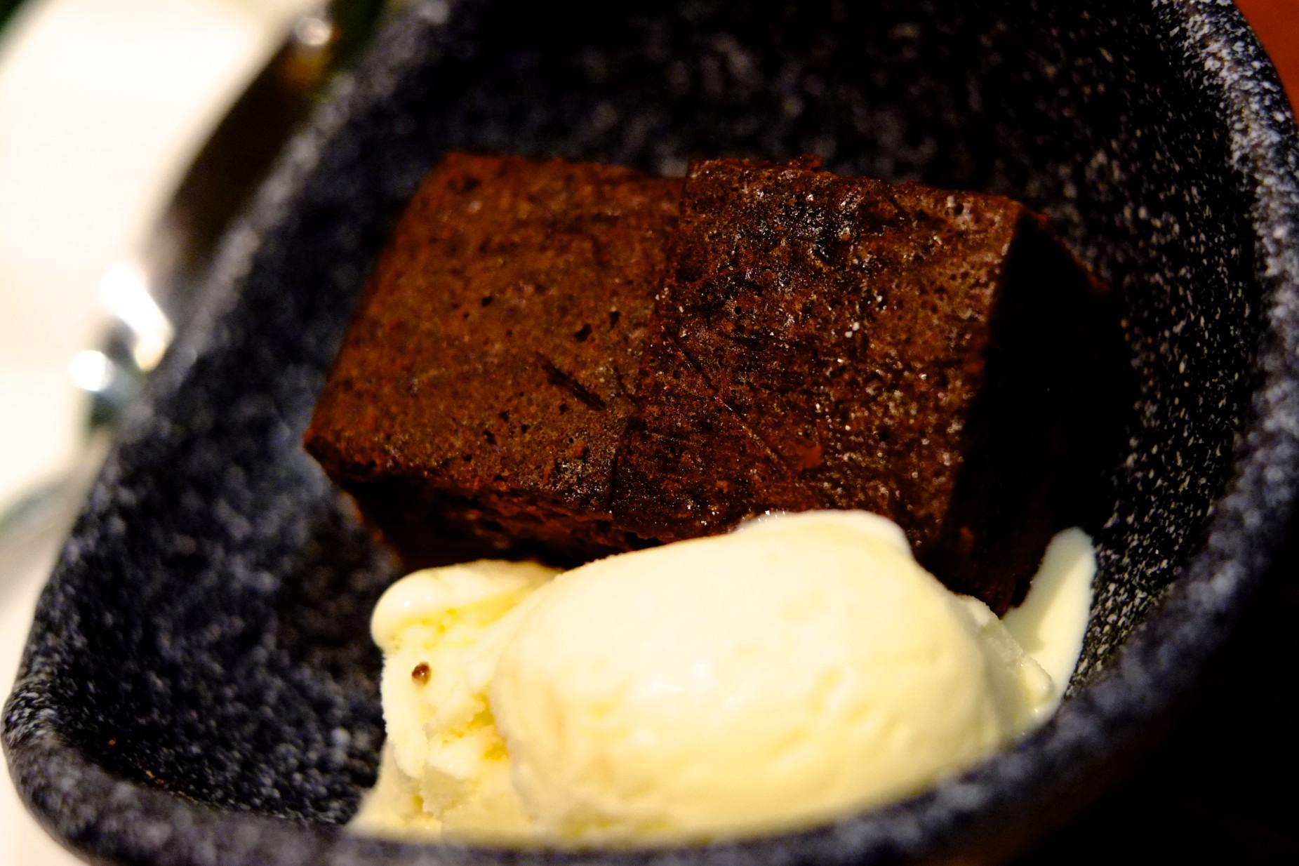 Chocolate Fudge Cake with Vanilla Ice Cream