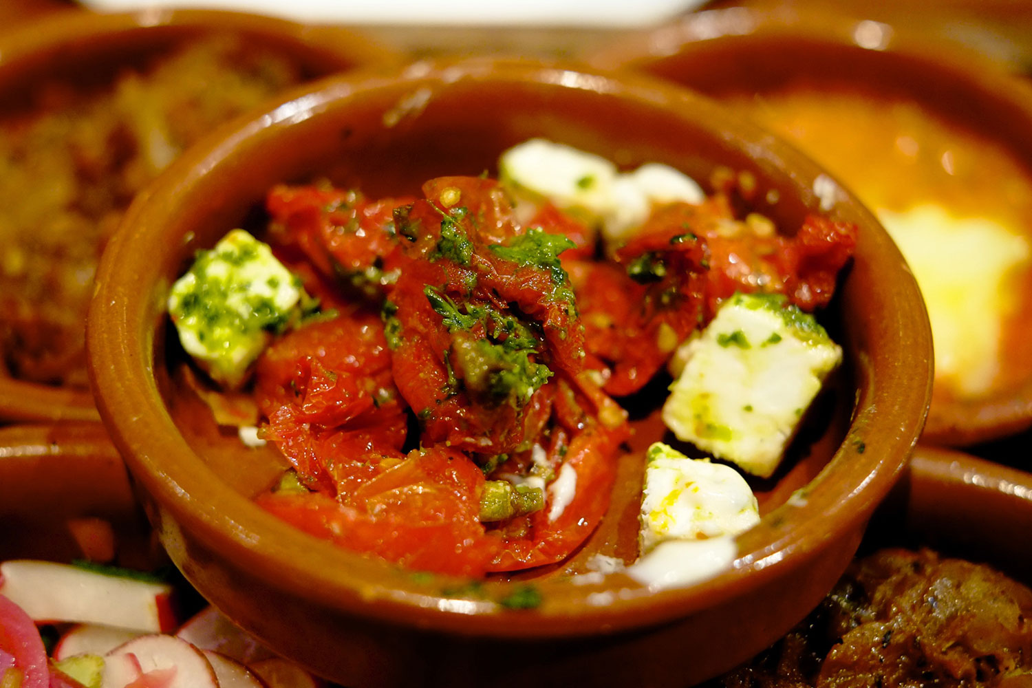 Roasted Tomatoes with Feta