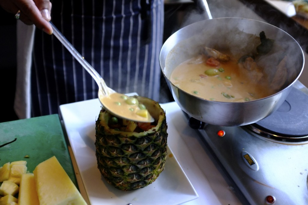 Duck Curry in a Pineapple