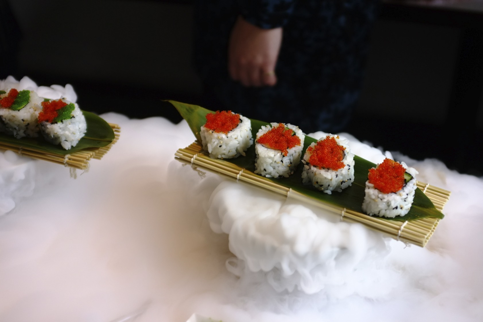 Sushi with Dried Ice