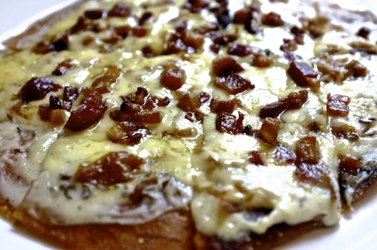 Alasation Tart with bacon and cheese