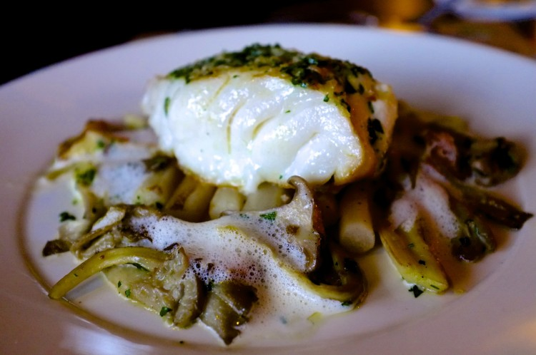 Cod Fillet with Lemongrass and Wild Mushrooms