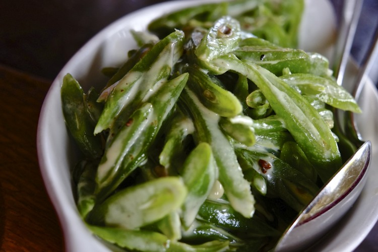 Creamed Runner Beans, Parmesan and Nutmeg