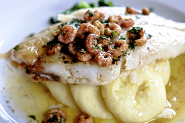 Grilled Megrim Sole with Brown Shrimp Butter