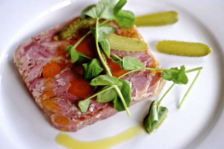 Ham Hock Terrine with Gherkins