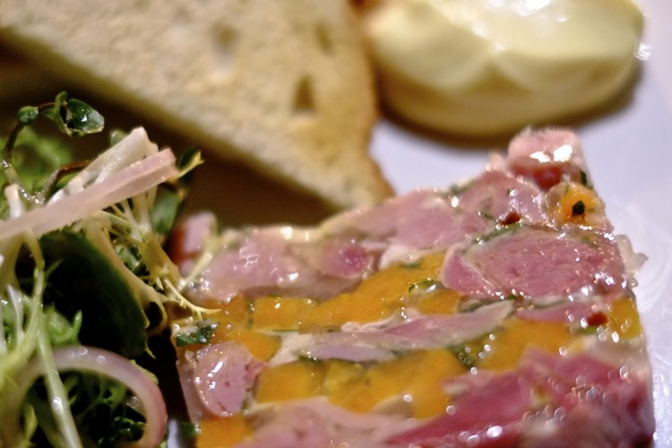 Ham Hock Terrine with Mustard Mayonnaise