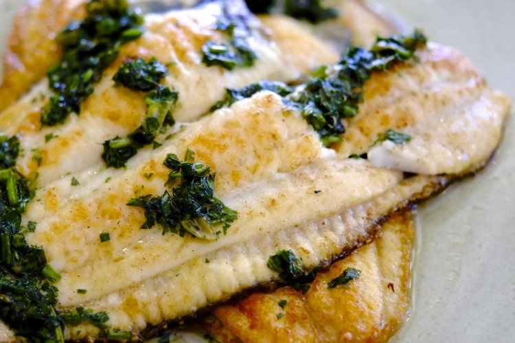 Plaice with Salsa Verde