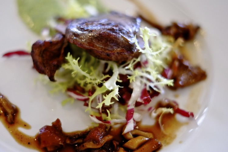 Woodpigeon Salad with Bacon