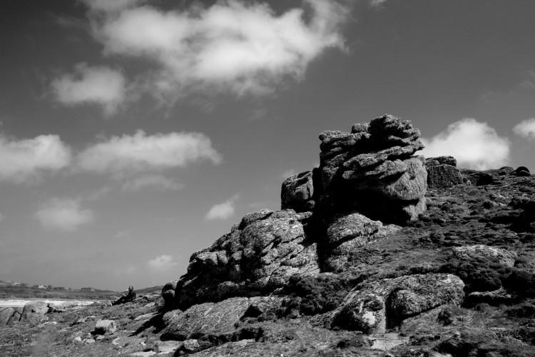B/W Rocks with M