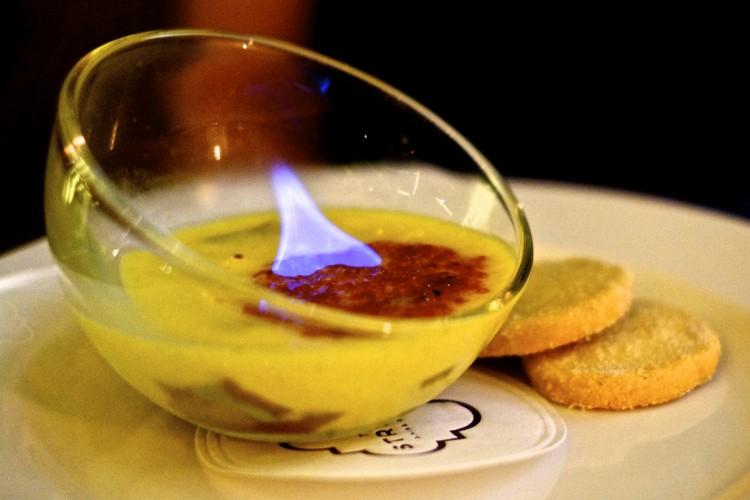 Rhubarb Egg Custard