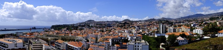 Funchal rooftops panoramic