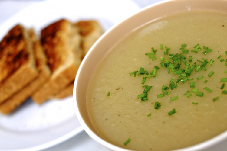 Celeriac and apple soup