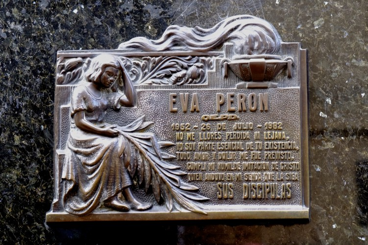 Eva Peron's garve