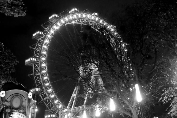 Ferris Wheel in B-W
