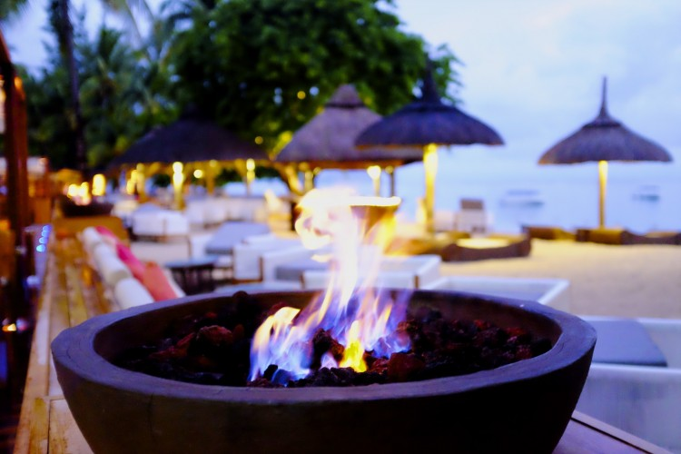 Fire Bowl on the Beach