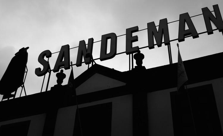 Sandeman Sign B/W