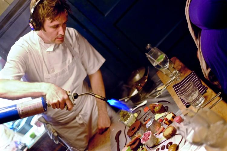 Jesse Torching Dessert