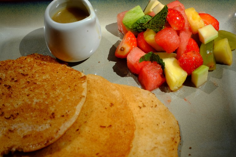 Fruit with Pancakes