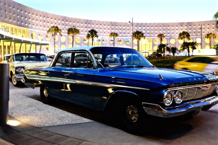 60's Cars Outside Reception Cabana Bay