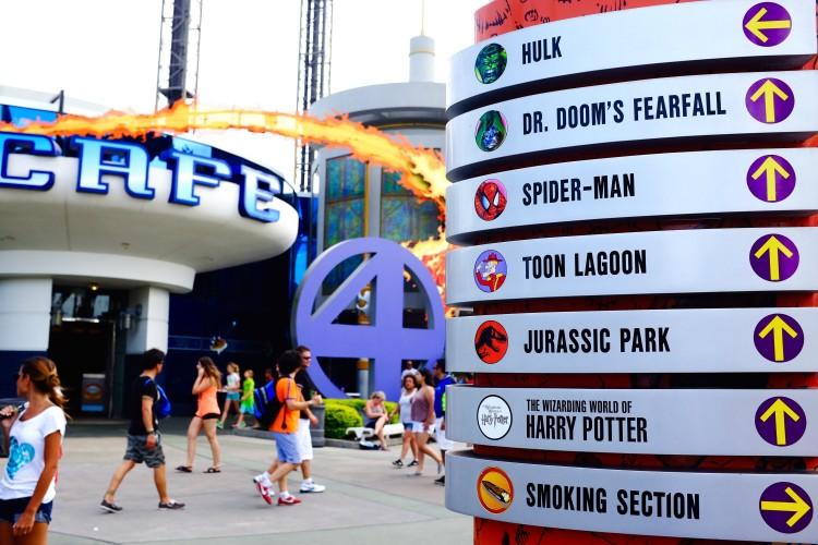 Rides Sign at Universal
