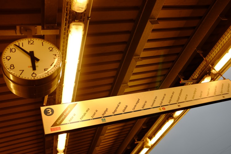 Train Sign and Clock