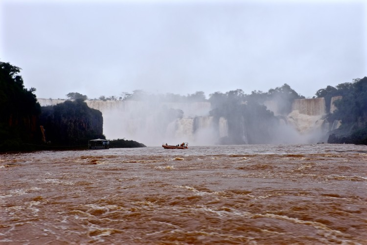 Boat under Falls