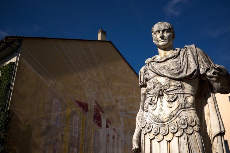 Roman Statue Outside Museum