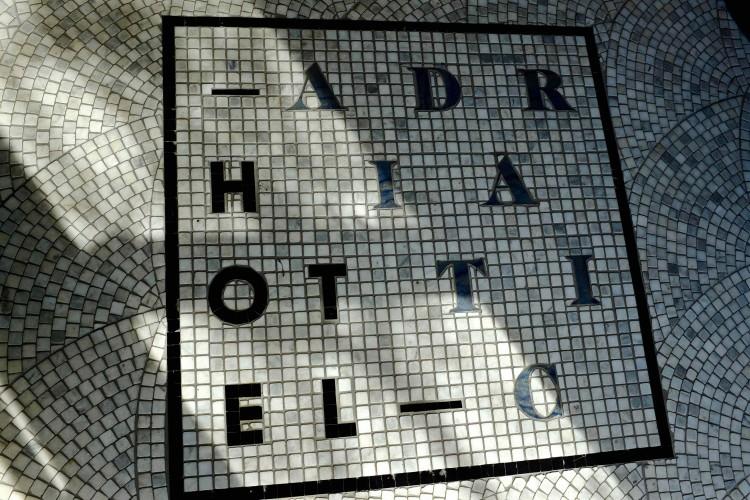 Hotel Sign Mosaic