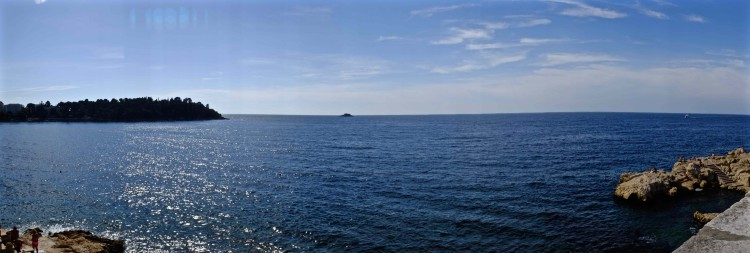 Panoramic of Blue Sea