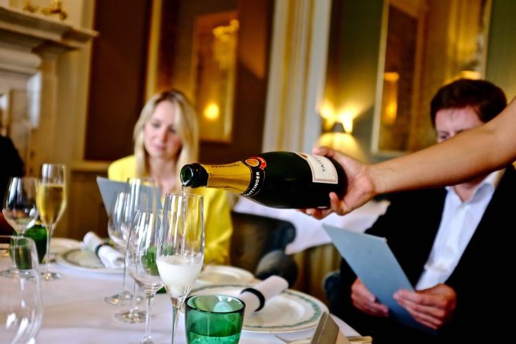 Champagne poring at Cliveden