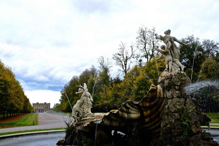 Fountain with Cliveden in Background